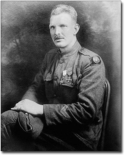 Sergeant Alvin C. York WWI Hero Portrait 8x10 Silver Halide Photo Print ()
