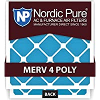 Nordic Pure 18x25x2M4Poly-3 Quantity 3 MERV 4 Poly TA Disposable Air Filter