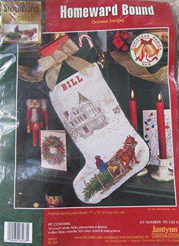 Homeward Bound Janlynn Counted Cross Stitch Christmas Stocki