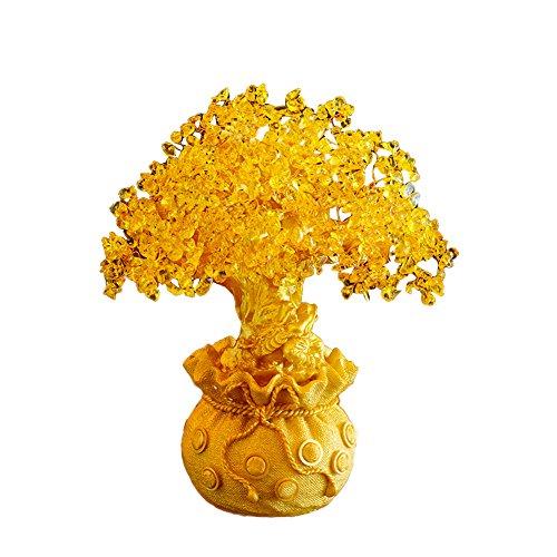Gold Crystal Money Tree Decoration