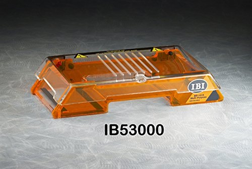 - IBI Scientific IB53000 MP-1015 Horizontal Electrophoresis System, 10cm W x 15cm L Gel Size
