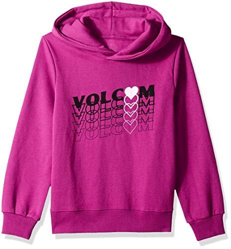 Volcom Big Little Girl's Knew Wave Hoodie Sweatshirt, Paradise Purple, Medium