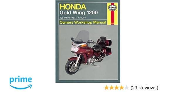 honda gl1200 gold wing 84 87 haynes repair manuals haynes rh amazon com 1984 Honda Goldwing GL1200 1984 honda goldwing aspencade owners manual