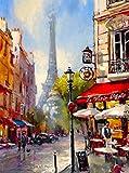 Paris France French Eiffel Tower Spring Europe European Travel Poster Art Advertisement