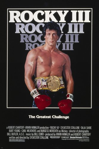 Rocky III Movie Poster sylvester stallone Muscles prize fight Boxing reproduction, not an original
