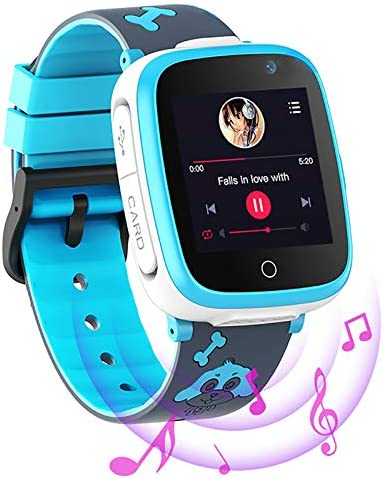 Kids Smart Watch for Boys and Girls – 1.54″ IPS HD Touch Screen with Analog Digital Dial 6 Puzzle Games 2 Cameras Alarm Clock Music Player SOS Call Smart Watch for Children Age 4-10