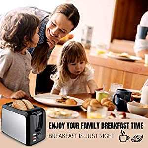 Toaster 2 Slice,Stainless Steel Toaster Toasters 2 Slice Best Rated Prime Wide Slots Toasters 7 Shade Settings with…