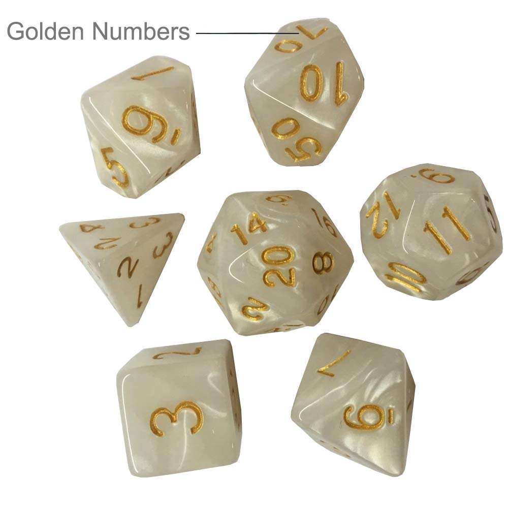 DND Dice Set Assorted Polyhedral Role-Playing Game Dice 20 x 7-Die Series of D4 D6 D8 D10 D/% D12 D20 for Dungeons and Dragons DND RPG MTG Table Games with Blue Dice Bag
