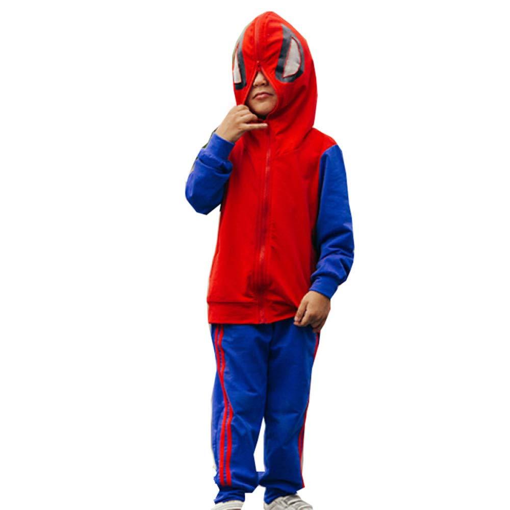 WU LAI 3D Halloween Thema Spider-Man Smiley Print Pullover Hoodie Atmungsaktiv Muster Pullover Mit Kapuze Sweatshirt Tasche Herren Tragen doune