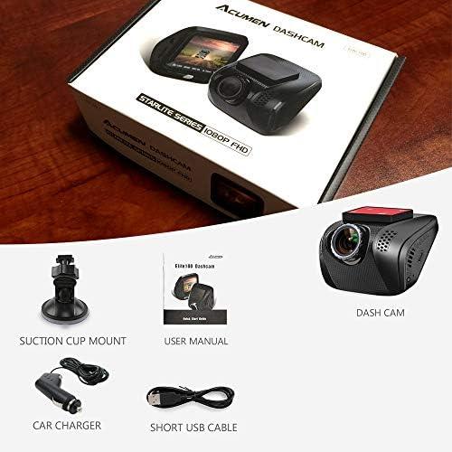 Dashboard Camera Recorder with Sony Exmor Sensor Acumen FHD 1080p Dual Dash Cam