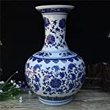 Blue and White Porcelain Vase (7.5'' × 7.5'' × 12.5'', blue and white 01)