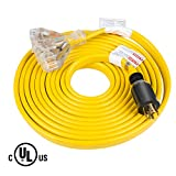25 Feet Heavy Duty Generator Extension Cord,Generator Locking...