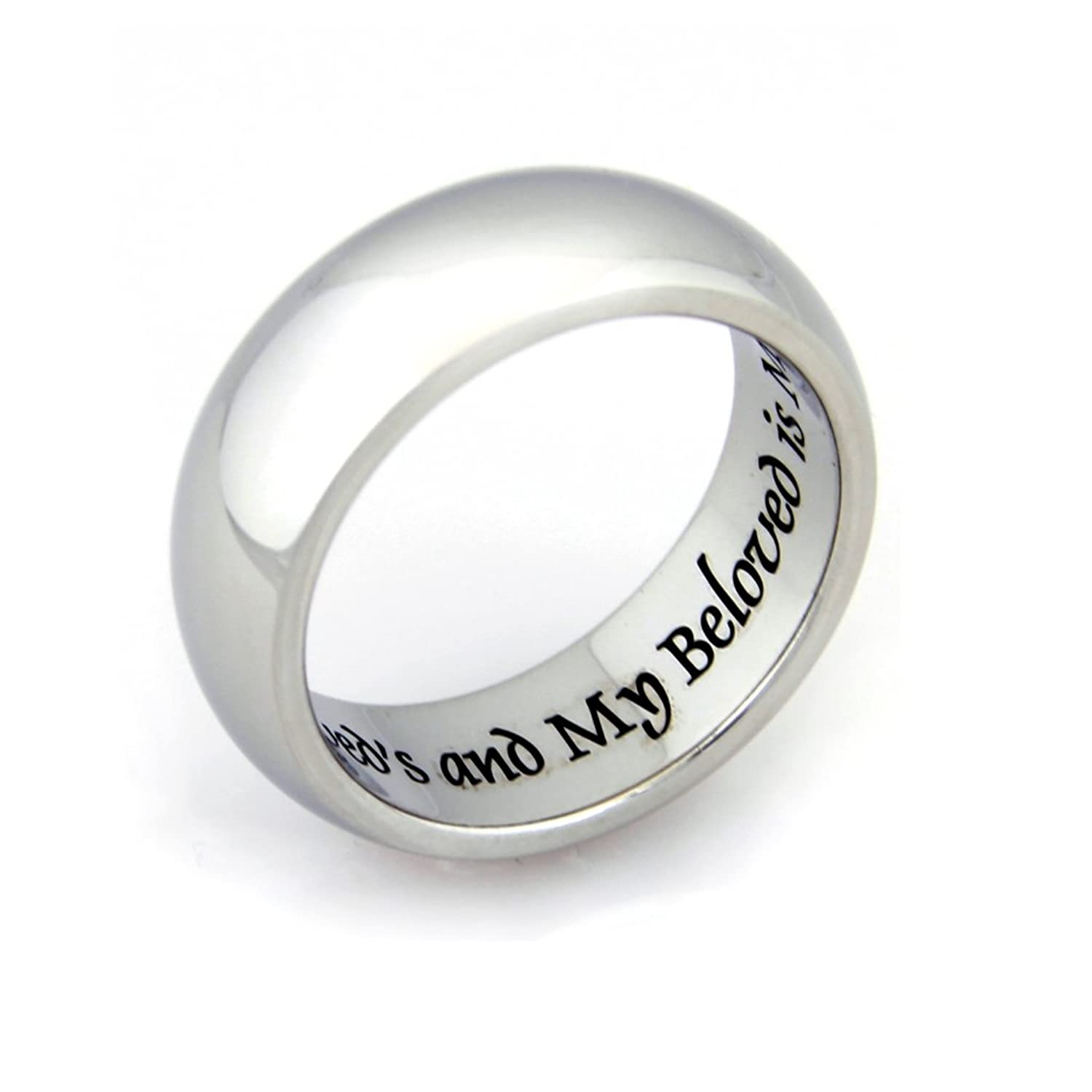 I Am My Beloved And My Beloved Is Mine Ring Promise Ring