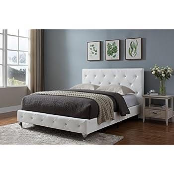 Amazon Com Baxton Studio Stella Crystal Tufted Modern Bed