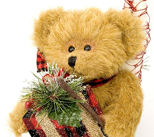 Northwood Canoe Bears (Northwoods Bears and Tree/Holiday Presents by Canoe - Cute Centerpiece Collectible Plush Table Top Decoration/Decor with Rustic Country Berwyn Bear)