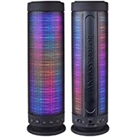 Dream Speaker HZ-9411 Fantasy Color Dancing Portable Bluetooth 10W Speaker (9.25 Tall) w/LED Visual Equalizer, 3.5mm Audio Input and MicroSDHC Card Slot