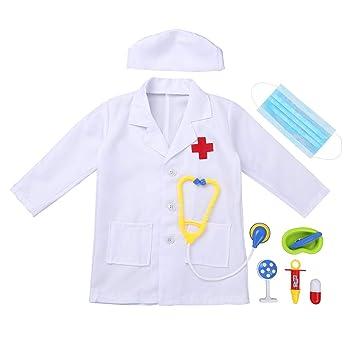 Kinder Arztkittel Laborkittel Madchen Jungen Arzt Set Weinachten