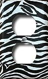 zebra decor for kitchen - Black White Zebra Animal Print Safari Decor Decorative Outlet Wall Plate