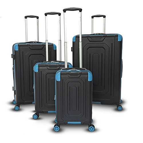 Gabbiano Luggage Cordoba Collection 4-Piece Hardside Upright Spinner Set (4 Piece Luggage Collection)