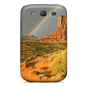 Mialisabblake Galaxy S3 Well-designed Hard Case Cover Rainbow Over Monument Valley Protector by lolosakes