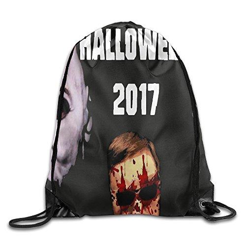 Halloween 2017 Ghosts Vampire Waterproof Drawstring Bag Travel Storage Backpack