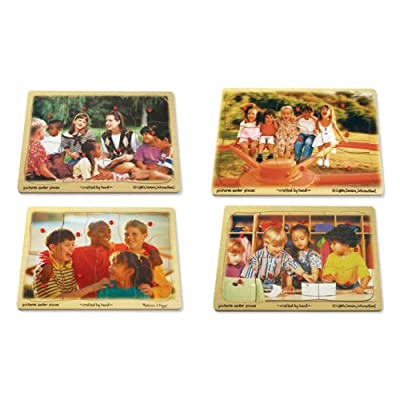 Melissa And Doug Melissa & Doug Ethnic Diversity Peg Puzzles - Set of 4 by Melissa And Doug