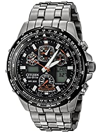 Citizen Men's JY0010-50E Eco-Drive Skyhawk At Titanium Black Dial Watch