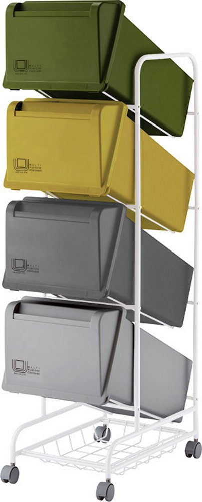 リス ゴミ箱 コンテナスタイル3 CS3-60 60L MX4 B00H8K4E48 63L(21L×3段) 63L(21L×3段)