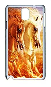 3D Horse Polycarbonate Hard Case Cover for Samsung Galaxy Note III/ Note 3 / N9000 White