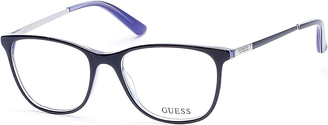 GU2566 001 I acetate women 53//17//135 Guess DARK BLUE Cat Eye