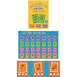 Jumbo Arabic Letters Flash Cards Set with FREE A2 Size Poster Included 28 Double Sided 14.5 cm X 20.5 cm Cards