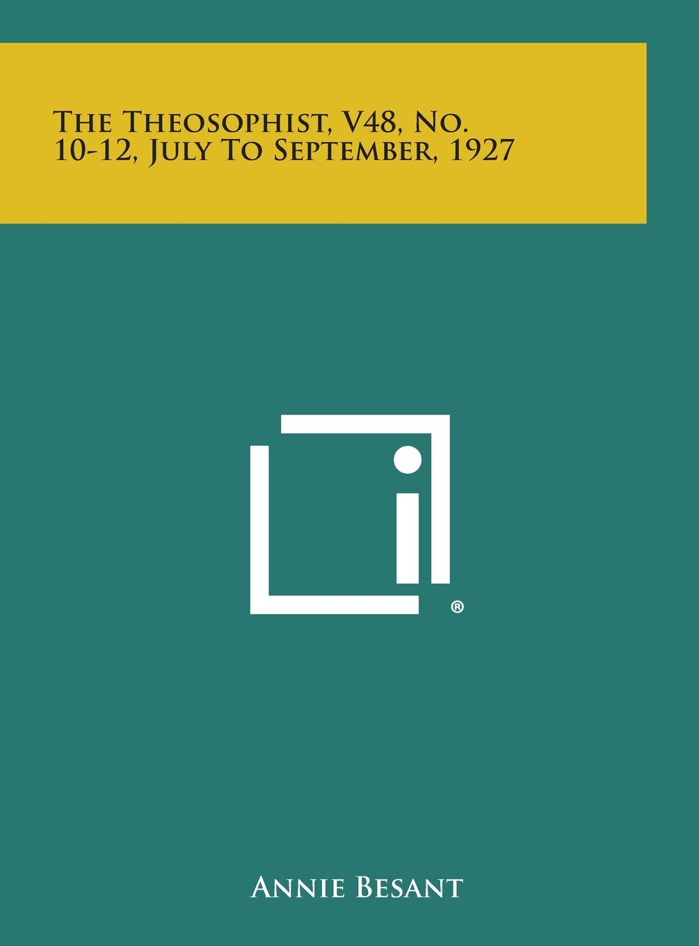 Download The Theosophist, V48, No. 10-12, July to September, 1927 PDF