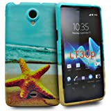 Accessory Master Star fish Design Blumen Silikon Schutzhülle für Sony Xperia LT30p blau