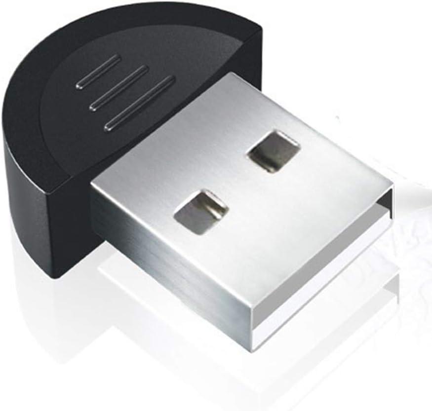 periwinkLuQ Adaptador USB Bluetooth, Mini USB Dongle Receptor Bluetooth Transferencia Adaptador Inalámbrico para Portátil PC Soporte Windows 10/8/7/Vista/XP, Ratón y Teclado, Auriculares