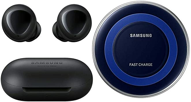 Amazon Com Samsung Galaxy Buds 2019 Bluetooth True Wireless Earbuds Wireless Charging Case Included Black International Version No Warranty Buds Fast Wireless Charging Pad Bundle Black Home Audio Theater