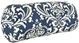 Majestic Home Goods French Quarter Round Bolster, Navy Blue