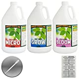 HUMBOLDT COUNTY'S OWN DEEP FUSION TRIO BUNDLE: GROW, MICRO, BLOOM + TWIN CANARIES CHART & PIPETTE - 1 Gallon Each