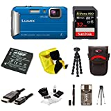 Panasonic DMC-TS30A LUMIX Tough Camera (Blue) w/ 32GB Memory Card Bundle