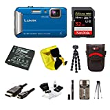 Cheap Panasonic DMC-TS30A LUMIX Tough Camera (Blue) with 32GB Memory Card Bundle