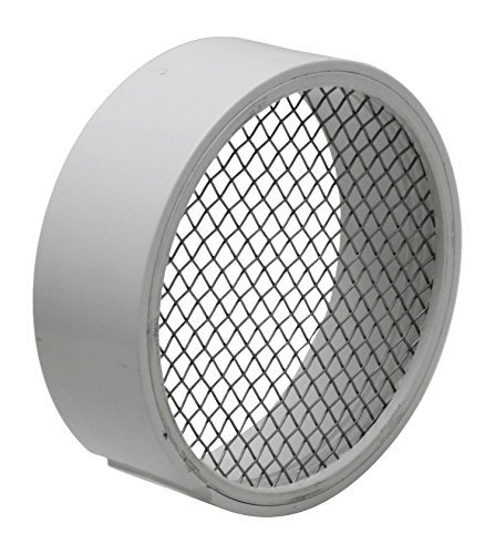 Raven TV2422 PVC Termination Vent with Stainless Steel Screen, 4 by Raven