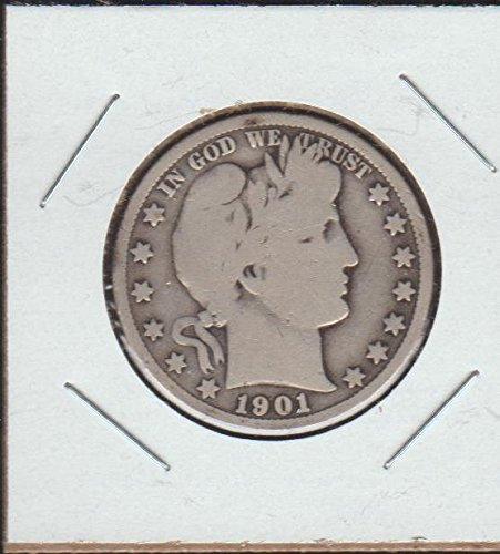 1901 Barber or Liberty Head (1892-1915) Half Dollar Very Good