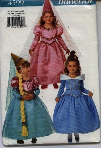 Butterick 4599 Childrens Princess Costume, Fancy Dress, Three Styles Renaissance]()