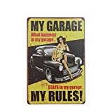 Metal Vintage Tin Plaque Garage Pub Bar Cafe Decor Sign Wall Poster Car 13