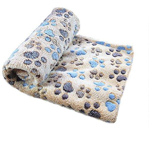 Allisandro warme und weiche Decke für Haustier wie z. B. Hunde oder Katzen, aus Korallen-Vlies, Kaffeebraun, M
