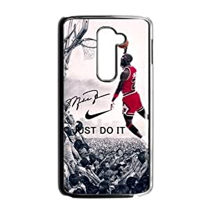 Hipster NBA Chicago Bulls Michael Jordan LG G2 (Fit for AT&T) Case Cover NIKE JUST DO IT Dunk