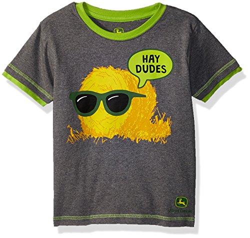 - John Deere Boys' Toddler' T-Shirt, Gray Heather/Lime Green, 3T