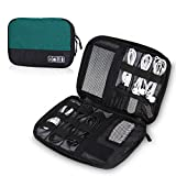 Hynes Eagle Travel Universal Cable Organizer Electronics Accessories Cases for Various USB Phone Charger and Cable GreenBlack