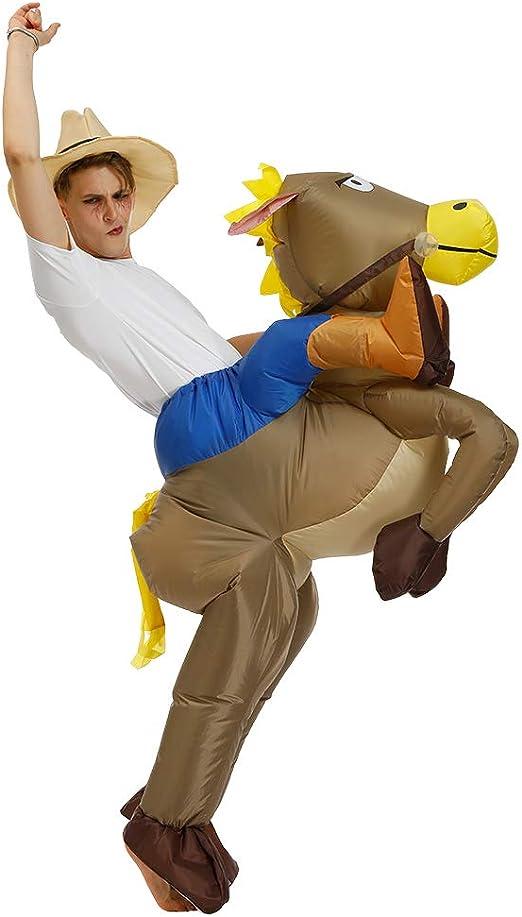 Lim Disfraz Hinchable de Vaquero Adulto: Amazon.es: Hogar