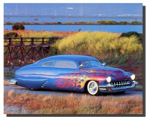 1949 Custom Mercury Vintage Classic Car Wall Decor Art Print Poster