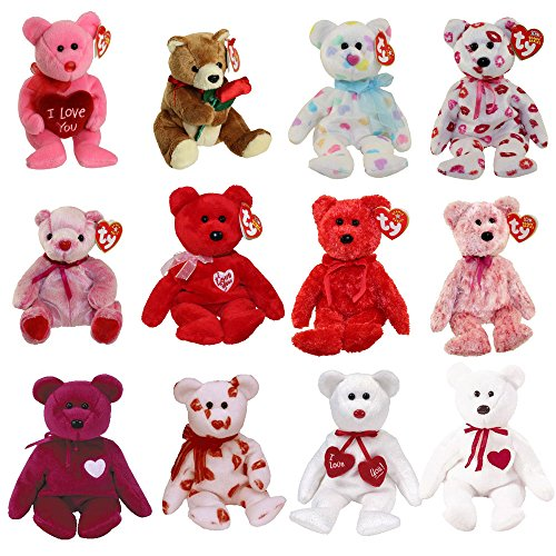 TY Beanie Babies - VALENTINE'S DAY BEARS (Set of 12) for sale  Delivered anywhere in USA